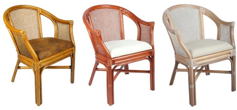 Rotan rieten lloyd loom meubelen stoel eetkamerstoelen for Kussens voor op stoelen